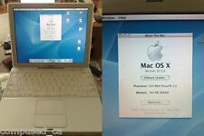 "iBook 12"" G3 600mhz 256MB airport wireless OSX 10.3.9 - Working"