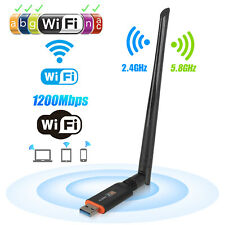1200Mbps Wireless USB Wifi Network Adapter Dongle Dual Band w/Antenna 802.11AC
