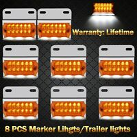 8pcs LED Trailer Tail Lights Caravan Truck Car Ute Indicator Side Marker Lamp