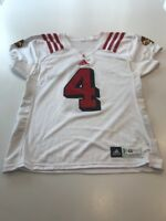 Game Worn Used Louisville Cardinals UL Football Jersey Adidas Size 46 #4