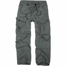 Pantalones de hombre cargo en gris con 100% algodón