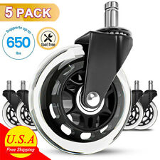 5pack 3 Office Chair Wheels Replacement Rubber Chair Casters Fits 99 Floors