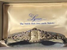 Vintage14k White Gold and Diamonds Cocktail Ladies watch running
