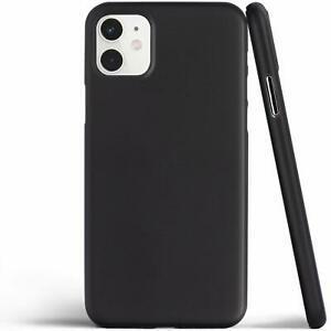 Apple iPhone 11 Shockproof Strong Silicone Case Cover Shell Black Free Protector