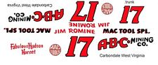#17 Jim Romine ABC Mining Hudson Hornet 1/32nd Scale Slot Car Decals