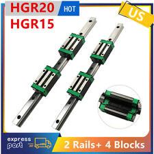 2pcs Hgr20hgr15 Linear Guide Rail 4pcs Hgh20cahgh15ca Slider Block 200 1700mm