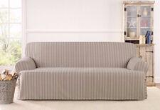 T-cushion Sofa Sure fit slip cover slipcover Grain sack stripe LINEN stripe