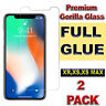 FOR iPhone XR,XS-MAX,XS GORILLA-TEMPERED GLASS Full GLUE FILM SCREEN PROTECTOR