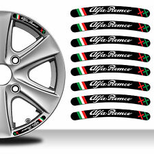 8 Adesivi Rim Stickers Auto Cerchi Ruota Strisce Sport Wheel Strip Alfa Romeo C3