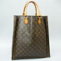 LOUIS VUITTON SAC PLAT Tote Bag Shopping Purse Monogram M51140 JUNK