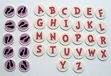 Dr. Seuss Super Stretchy ABC Replacement Parts Tokens Letters Footprint Coins
