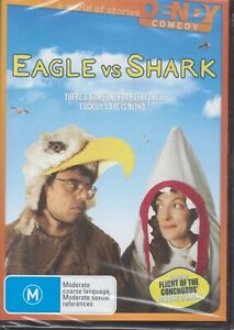 EAGLE vs SHARK Comedy DVD Starring Jemaine Clement (Flight Of The Conchords) NEW
