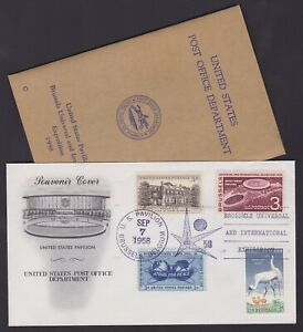 Belgium BRUSSELS EXPO 1958 United States FDC + MNH stamps booklet inside...A7238