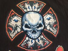 VTG. CANCUN CHOPPERS Motorcycles Custom SKULL Kingdom Sleeveless Muscle Mens XL