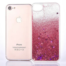 m: Glitter Stars Dynamic Liquid Quicksand Hard Case Cover For iphone 7  Pink