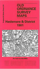 OLD ORDNANCE SURVEY MAP BILLINGSHURST CRANLEIGH HASLEMERE LIPHOOK EWHURST 1901