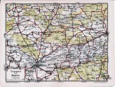 Küstrin Kostrzyn Tamsel Dąbroszyn 1914 kl. orig. Karte + Wanderf. (18 S.) Gorzów