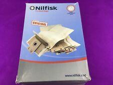 5 X GENUINE Nilfisk Dust Bags 82222900 Family & Business Series Vacuum Cleaner
