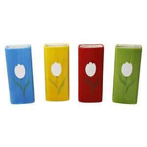 4er Set Luftbefeuchter Wasserverdunster aus Keramik je 300 ml für Heizkörper Set