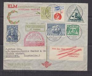 NETHERLANDS, 1934 KLM First Flight Airmail cover to Curacao.