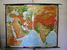 Scheda crocifissi Muro Carta schulkarte Orient Turchia India CARD MAP 204x167cm 1970