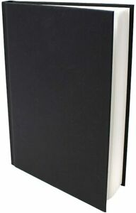 A5 Art Book Artist Sketchbook Hardbound faux Leather 140 gsm White Paper 48 Page