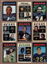 Lot of 9 Chicago Bears tribute cards: Sayers Butkis Ditka Piccolo Payton & more