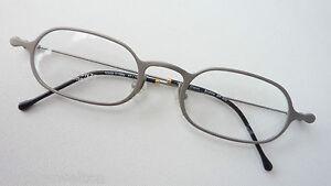 R.C. Metallfassung mit kleinen Gläsern silbermatt individuell eckig 47-19 Gr. M