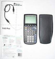 Ti-83 Plus Graphing Calculator With Manual Texas Instruments Perfect Condition