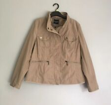Principles Ben De Lisi Hidden Hood Jacket Beige Size 16 Excellent Condition