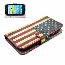 Wallet Leather Flip Stand Cover Case Best For Samsung Galaxy S3 III Mini i8190