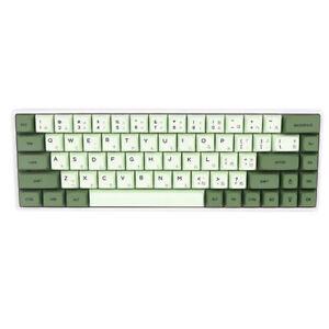 Japanese Green&White PBT Mechanical Keyboard Keycaps XDA High GH60/68/96/104