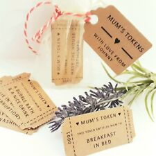 Customised Bag of 15 Mother's Day Tokens Vouchers Ideas - Birthday Christmas Mum