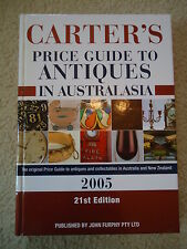 CARTER'S PRICE GUIDE TO ANTIQUES IN AUSTRALIASIA 2005 21st EDITION  HBDJ