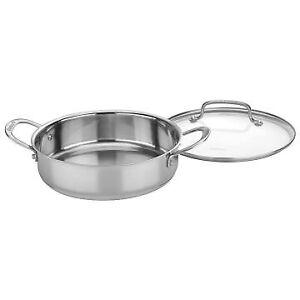 Cuisinart Chef's Classic Stainless Steel Casserole & Multi-purpose Pot - 3 Qt