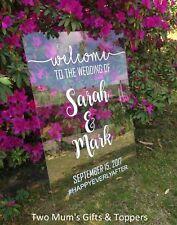 Acrylic/Clear Perspex Personalised Wedding Engagement Baby Shower Welcome Sign