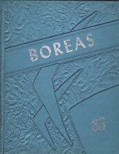 High School Yearbook Bingham Maine Upper Kennebec Valley Memorial HS Boreas 1963