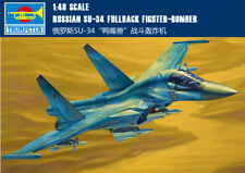 RUSSIAN SU-34 FULLBACK FIGHTER-BOMBER 1/48 aircraft Trumpeter model plane kit
