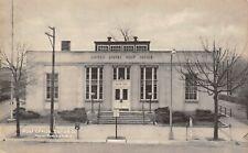Eaton Ohio~US Post Office~Birdseye Front Doors~Mailbox on Post~1940s B&W PC