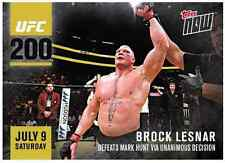 2016 Topps Now Brock Lesnar vs Mark Hunt UFC 200 WWE WWF ~ FREE SHIPPING