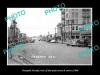 OLD LARGE HISTORIC PHOTO OF TONOPAH NEVADA, VIEW OF THE MAIN St & STORES c1940