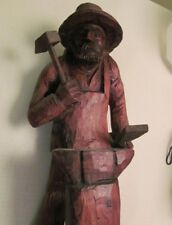 "VINTAGE 50s "" FORGED IN FIRE "" BLACKSMITH HAND CARVED IN GERMANY"