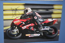 John McGuinness Macau Hand Signed Huge Canvas Ready to Hang