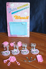 2 GLORIA DOLL HOUSE FURNITURE Utensil Accessories Plates & Forks SETs (80 Pcs)