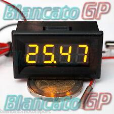 MINI TERMOMETRO DIGITALE da PANNELLO LED GIALLO -200~450℃ PT100 auto moto sonda