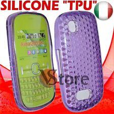 Cover Custodia Gel Silicone TPU Viola Per Nokia Asha 200/201
