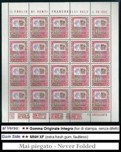 ** Italia 1978-1979: Minifoglio ALTI VALORI Lire 1500 [ Foglietto 1.500 ] MNH