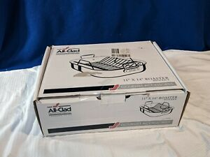 ALL-CLAD~Stainless Steel Roaster~11' x 14'~Non-Stick Rack~In Original Box~NICE!