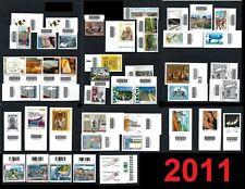 ITALIA 2011 - Annata parziale di 47 valori - con CODICE a BARRE **