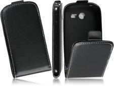 Flip Slim-Flexi PU Leder Handytasche Schwarz Case Samsung Galaxy Pocket 2 /G110H